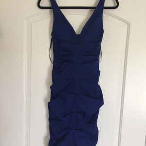 SEXY Caché Midi Dress Size 2 - Royal Blue